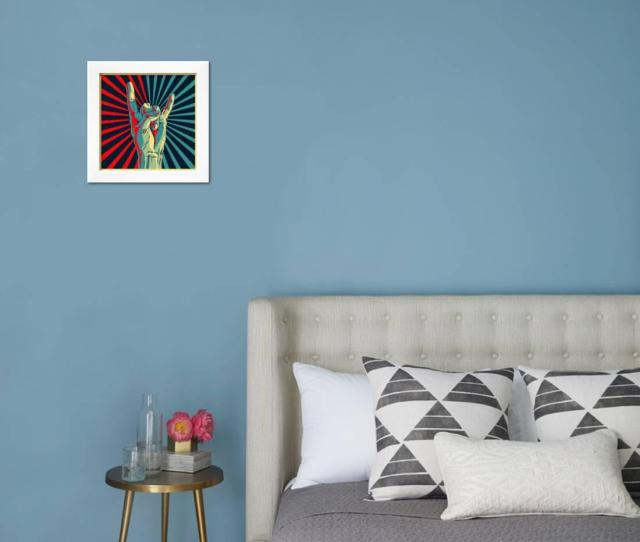 Hand In Rock N Roll Sign Vector Illustration Framed Print Wall Art By Premiumvector Walmart Com