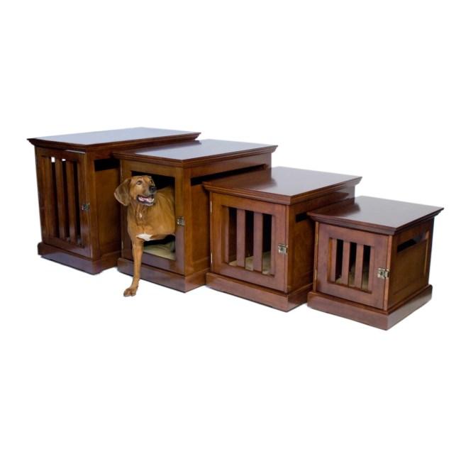 DenHaus TownHaus Wood Dog Crate Furniture