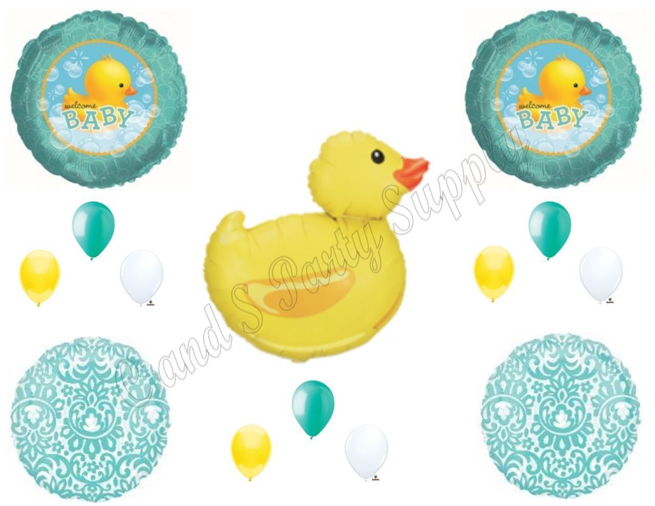 Welcome Baby Rubber Duck Bubbles Shower Balloons Decoration Supplies Walmart Com