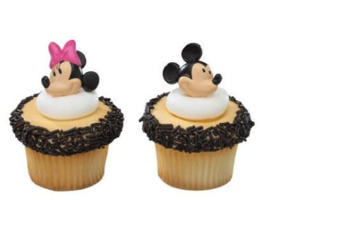24 Mickey And Minnie Mouse Cupcake Cake Rings Party Favors Walmartcom
