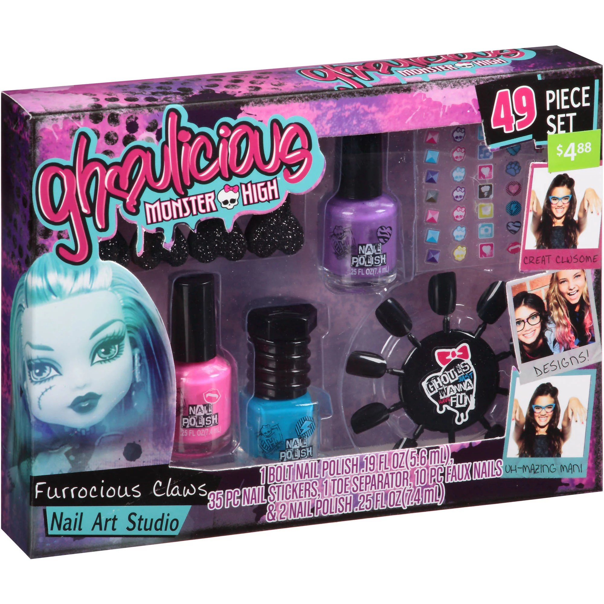 Monster High Makeup Set Argos Mugeek Vidalondon Galt Nail Art Activity Pack