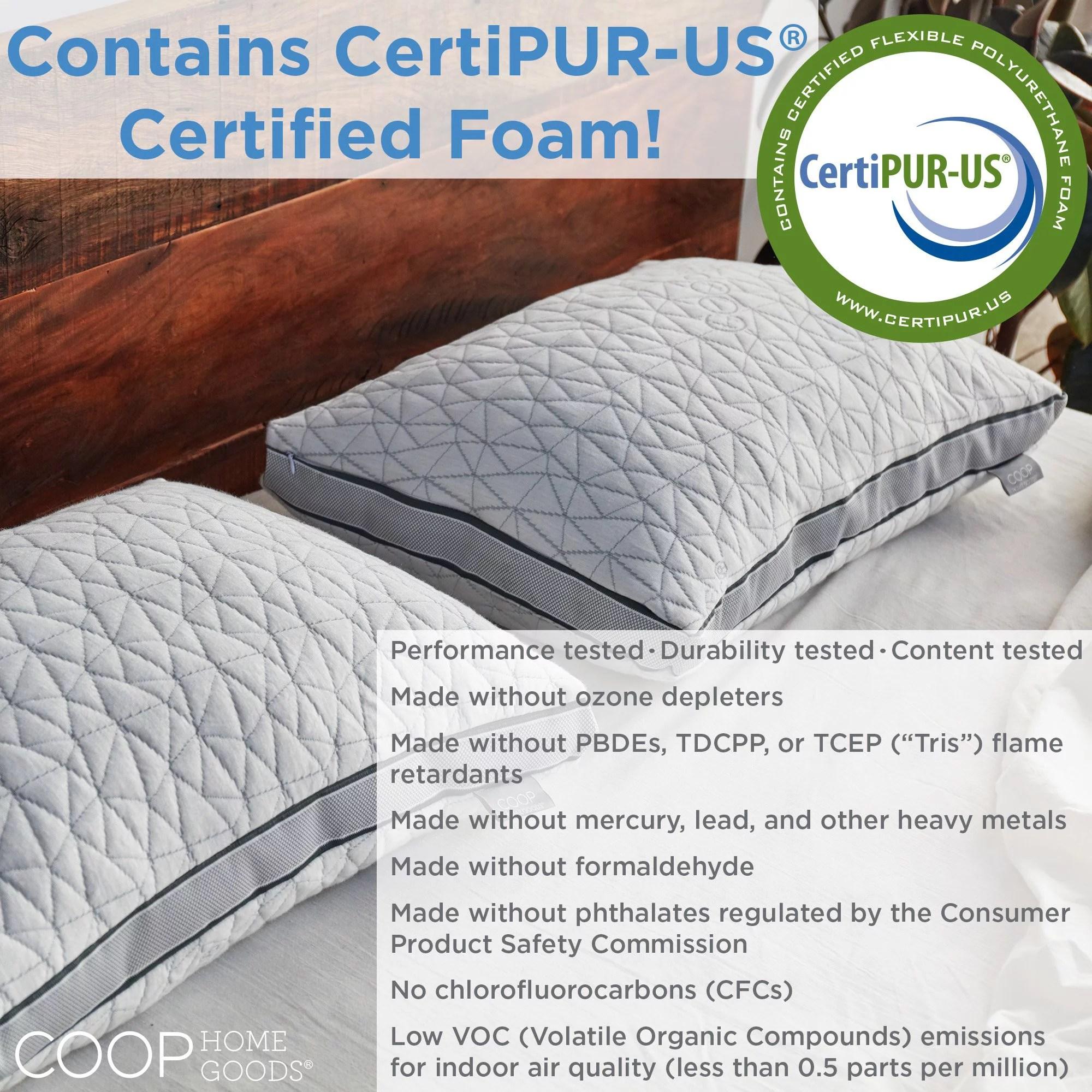 coop home goods pillow smell online