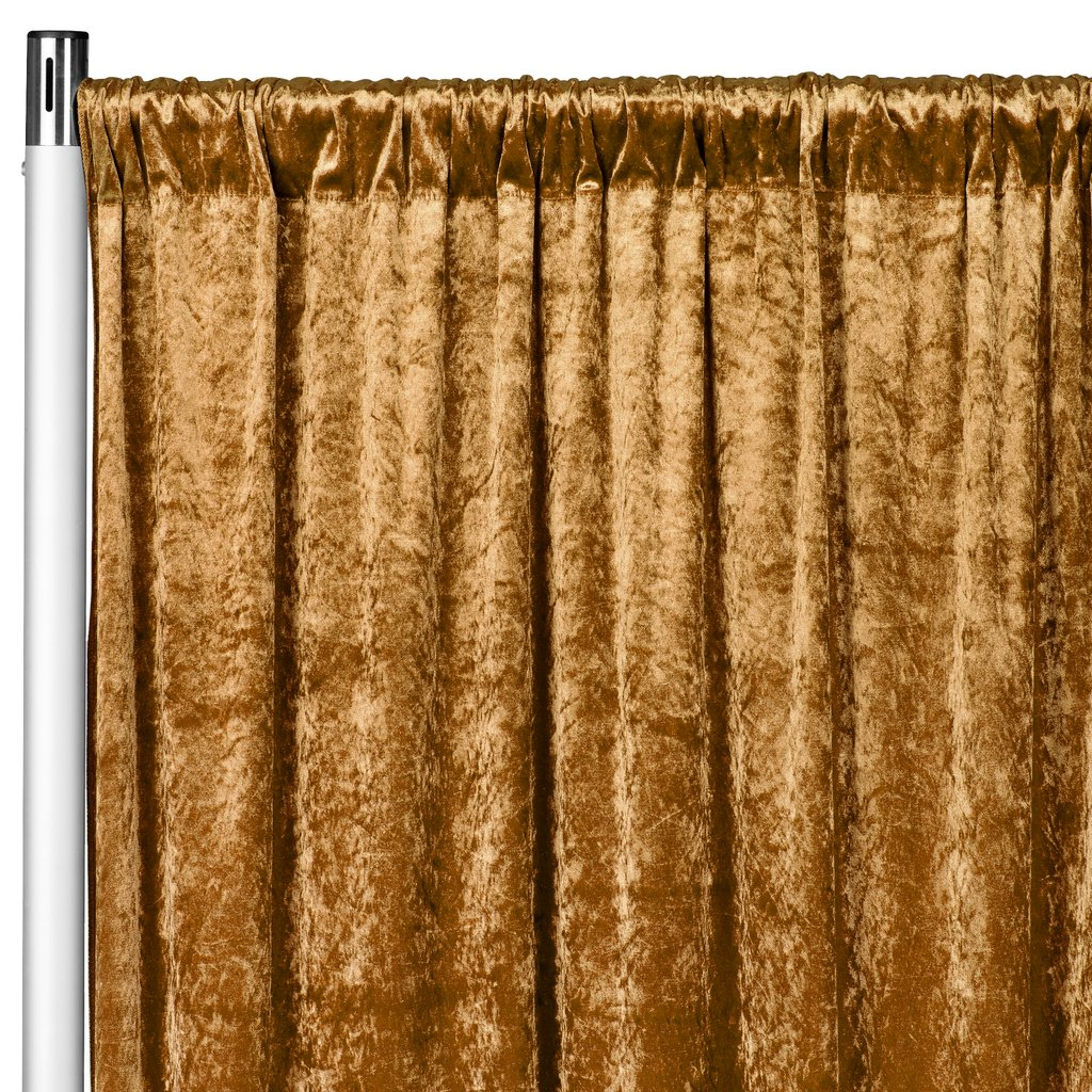 1 pc velvet 8ft h x 52 w drape backdrop curtain panel mustard gold for home event decor