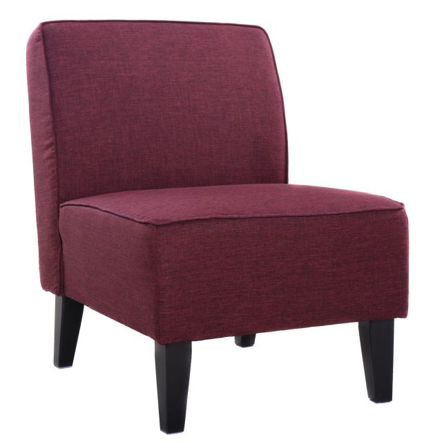 Costway Accent Chair Armless Contemporary Dining Chair ...