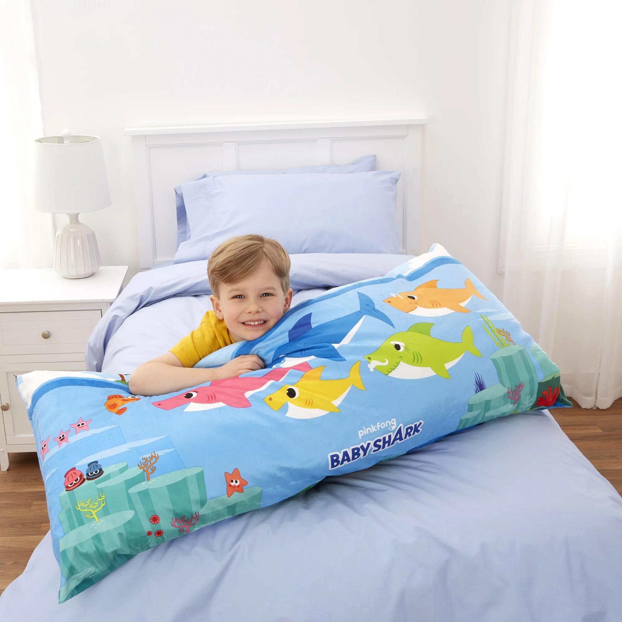 baby shark extra large body pillow reversible design 4 feet long