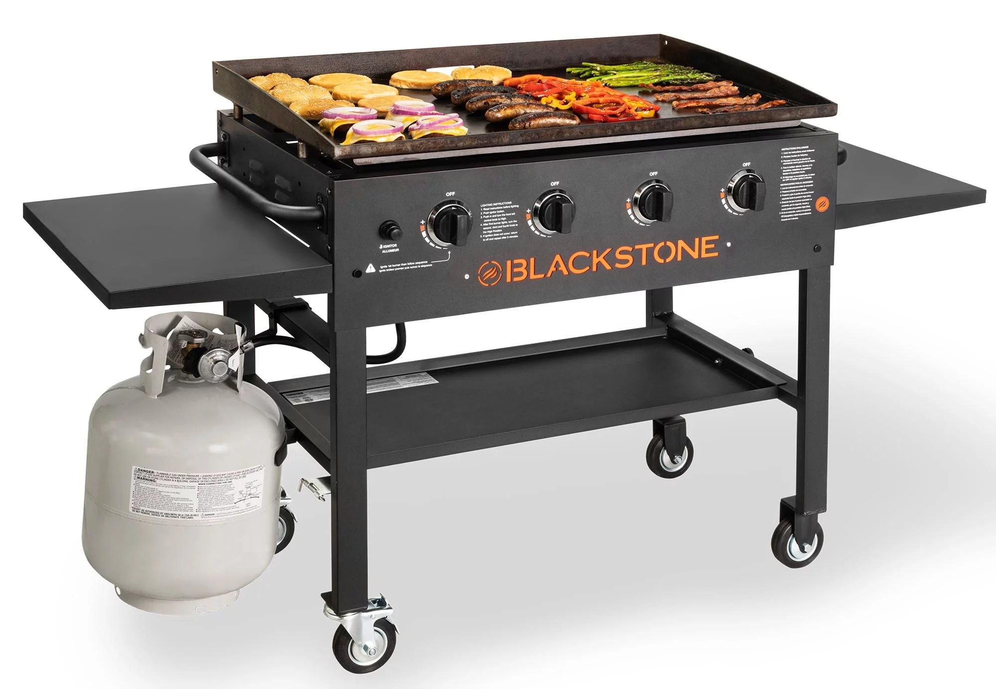 Blackstone 4-Burner 36″ Griddle Cooking Station with Side Shelves