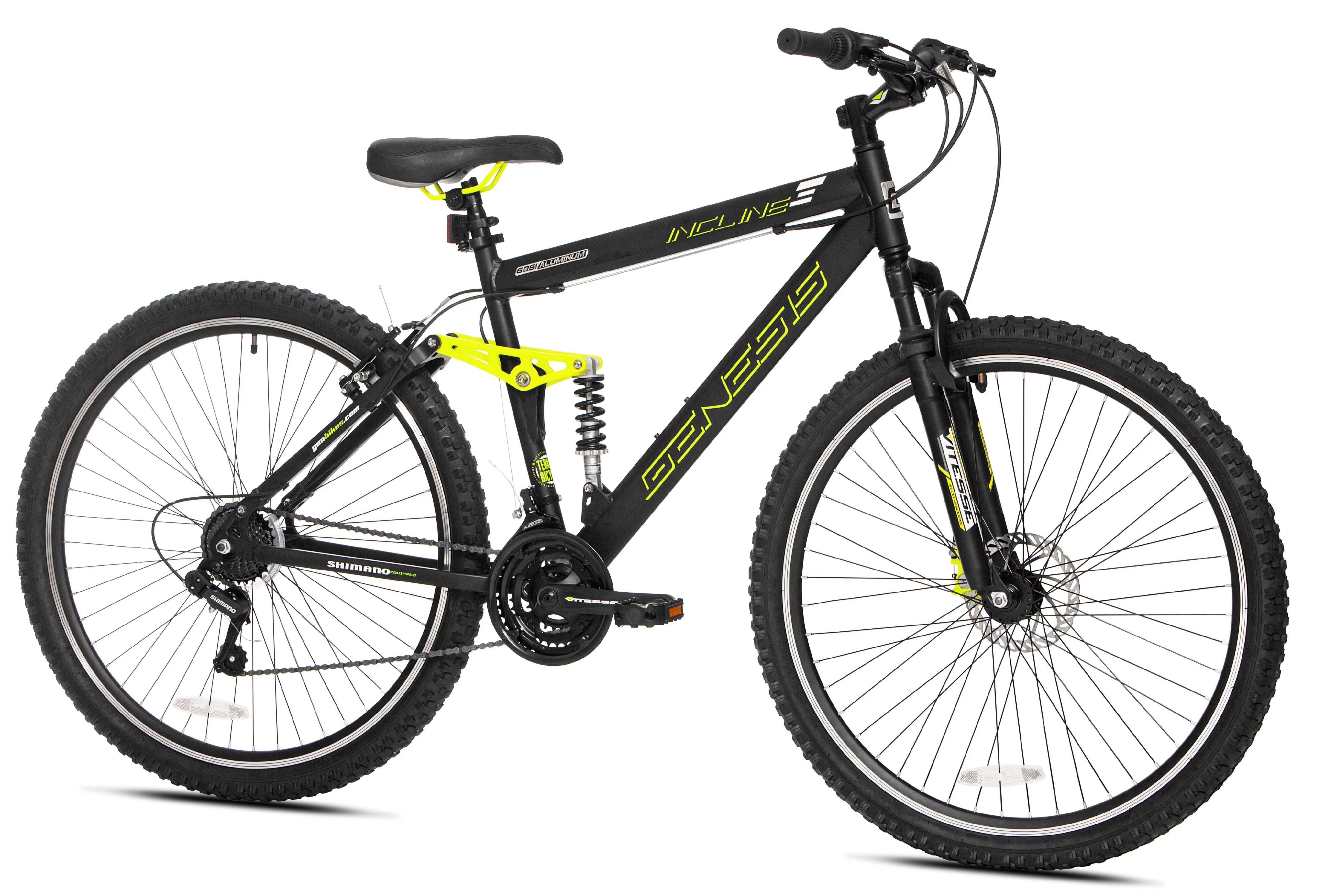 Genesis 29 Incline Men S Mountain Bike Black Yellow