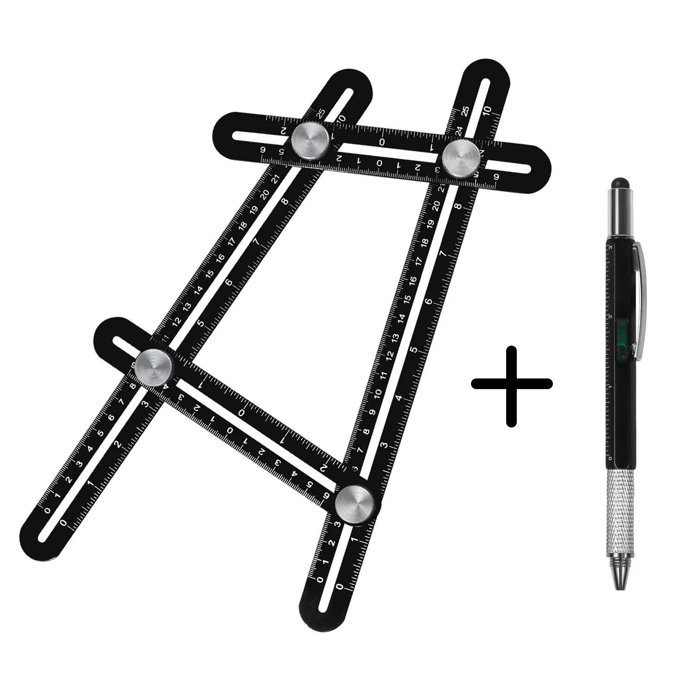 Heavy Metal Multi Angle Measuring Ruler Angleizer Diy