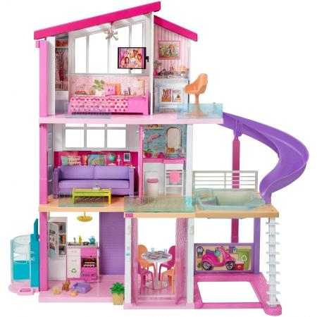 NEW Barbie DreamHouse Playset with 70+ Accessory Pieces