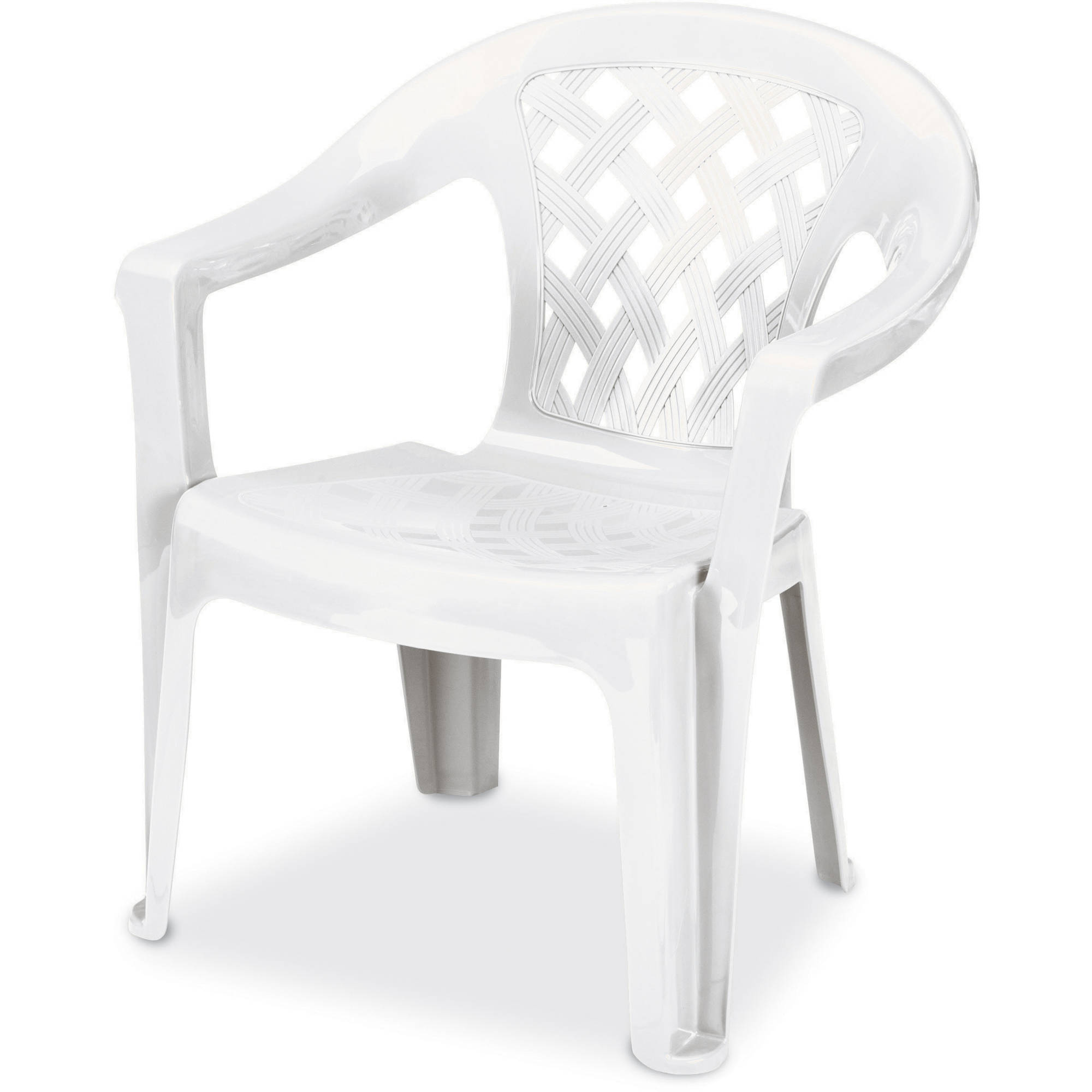 us leisure resin big tall low back chair white