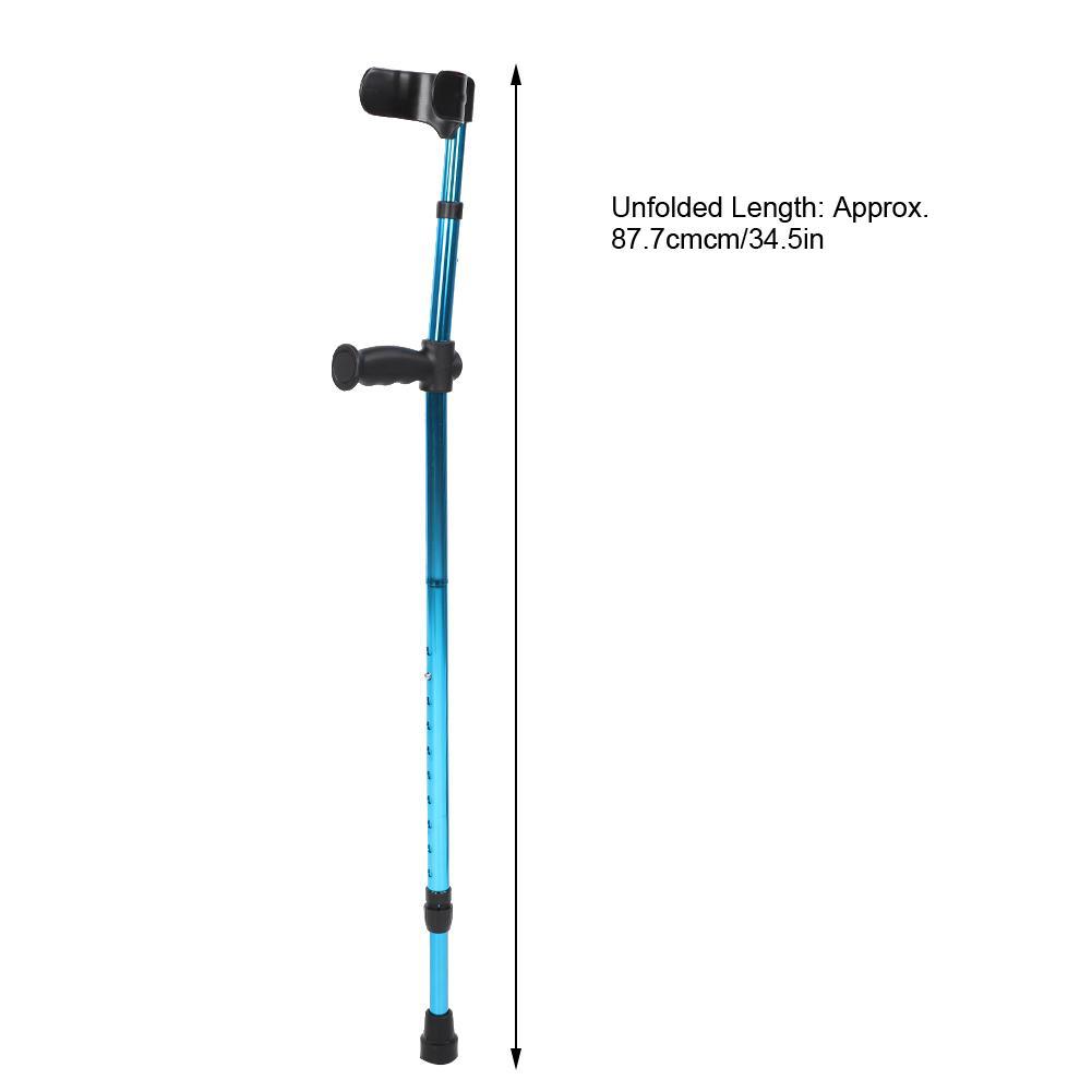 Greensen Handicape Baton Baton De Marche Pliant Portable Telescopique Reglable Aisselle Canne Bequille Pour Personnes Agees Handicapees Personnes Agees Bequille Agee Walmart Canada