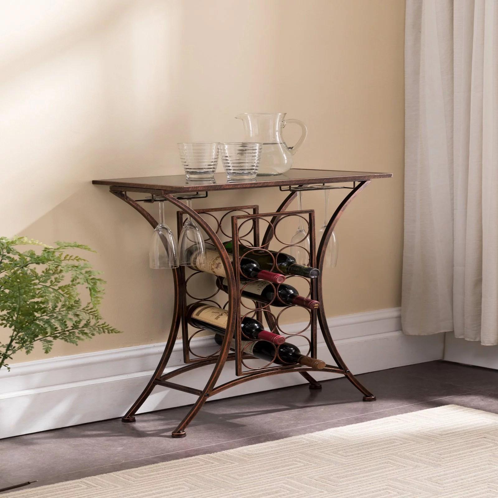 k b furniture wr1367 metal 10 bottle wine rack