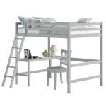 Hillsdale Caspian Full Size Loft Bed With Desk And Chair Gray Walmart Com Walmart Com