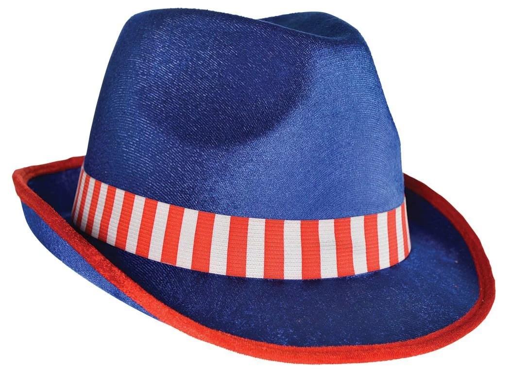 Amscan 4th of July Fedora Hat in Patriotic Stripe
