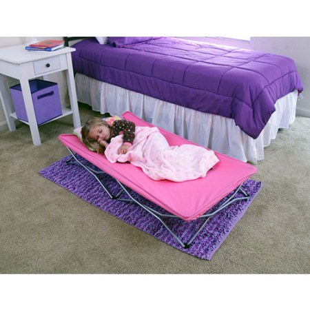 Regalo My Cot Pink Portable Folding Travel Bed With Bag