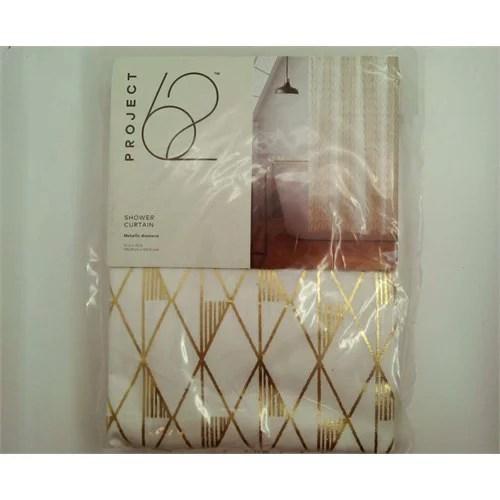 diamond shower curtain gold sour cream project 62