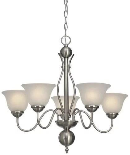 patriot lighting irelyn 24 brushed nickel traditional 5 light chandelier