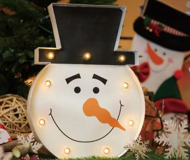 Christmas Festival Indoor  Led Marquee Snowman Light Decor