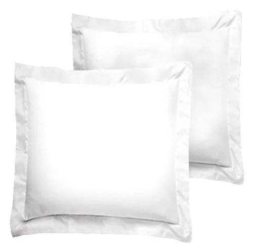 american pillowcase euro shams 26x26 set of 2 pillow covers luxury 100 egyptian cotton 2 pack european 26 x 26 white