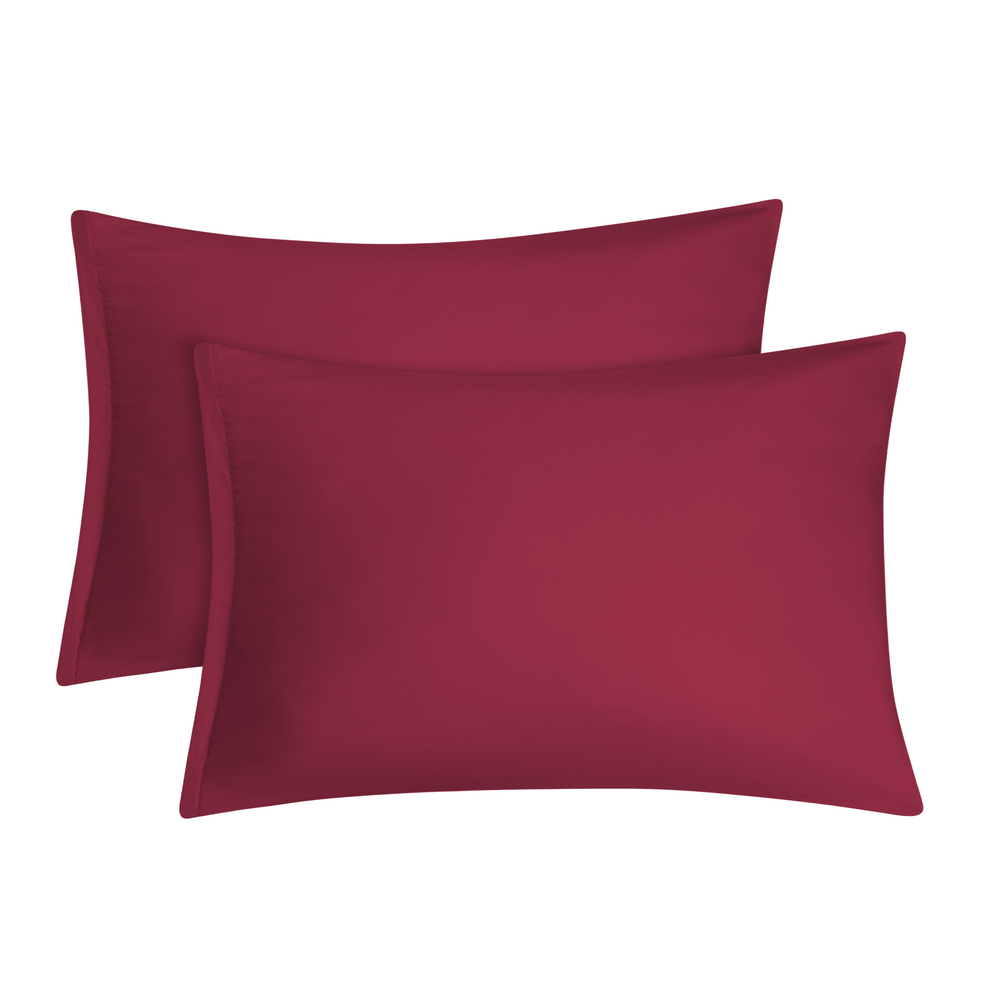 2 pack travel size pillowcases soft 1800 microfiber pillow case with zipper closure burgundy bedding pillow covers