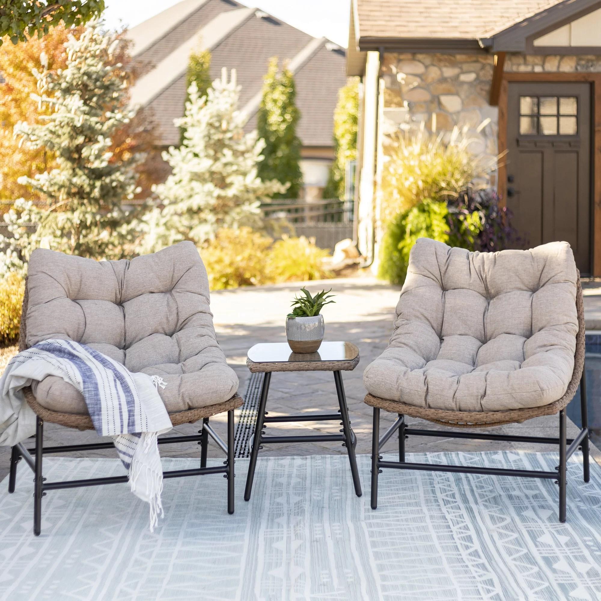 manor park outdoor patio papasan chairs set of 2 natural walmart com