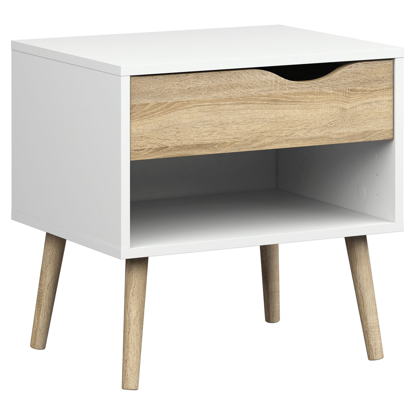 tvilum diana 1 drawer nightstand oak