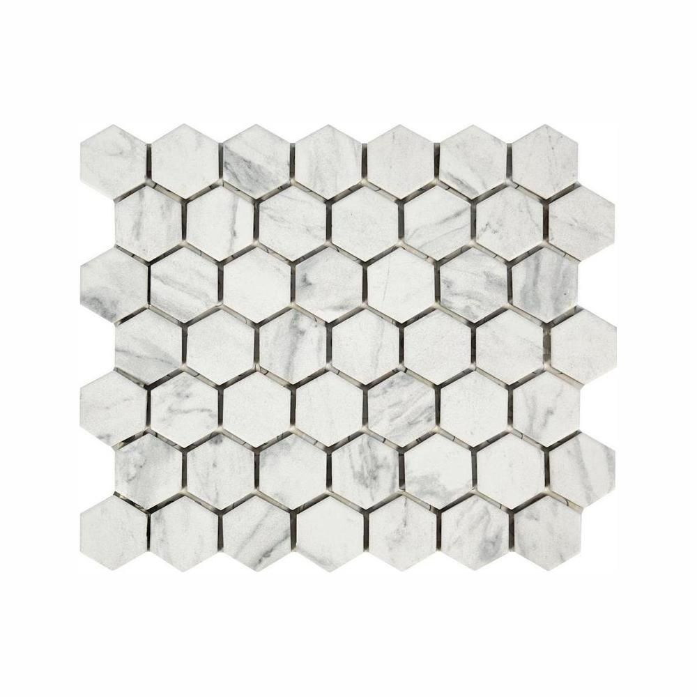 lifeproof carrara 10 in x 12 in x 6 35mm ceramic mosaic floor and wall tile walmart com