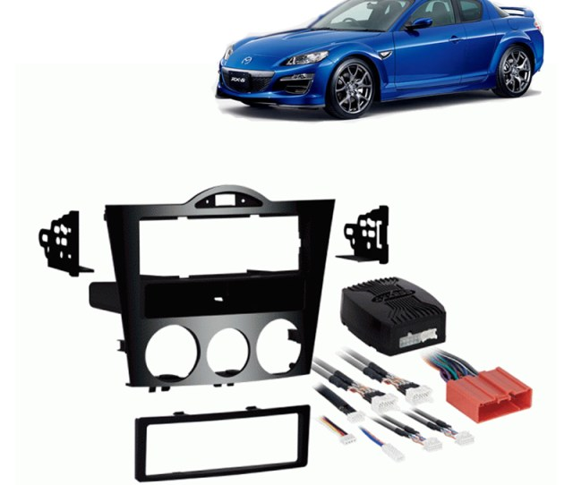 Fits Mazda Rx Single Din Aftermarket Harness Radio Install Dash Kit