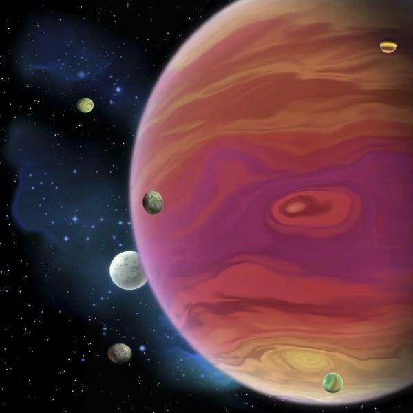 Artists concept of planet Jupiter Jupiter is the largest ...