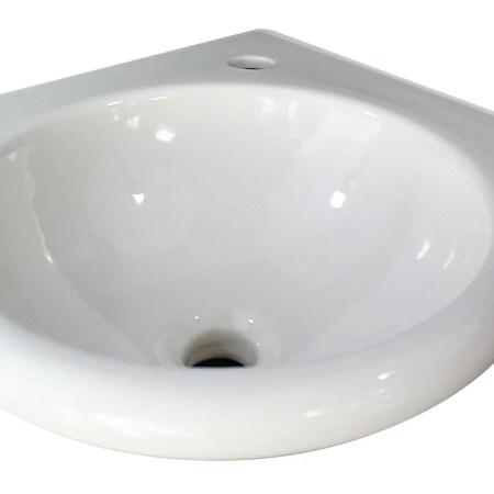 "alfi brand ab104 white 15"" round corner wall mounted porcelain"