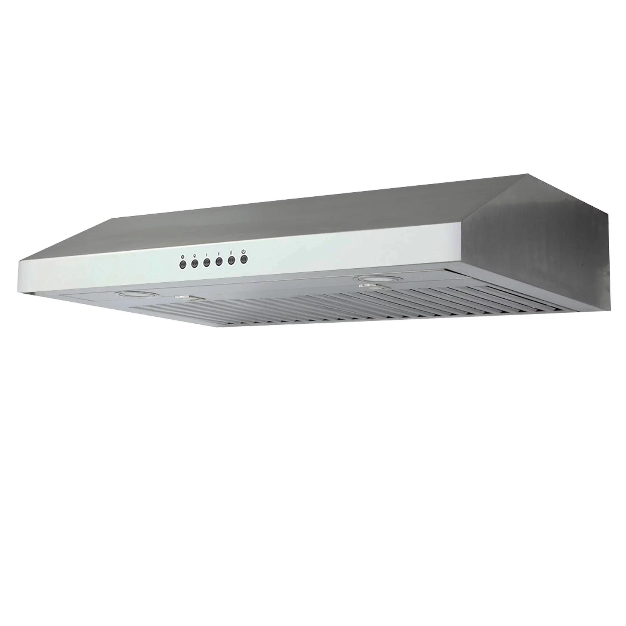 roxon 860 cfm 30 inches under cabinet range hood kitchen exhaust fan stainless steel rxn u02bd 30