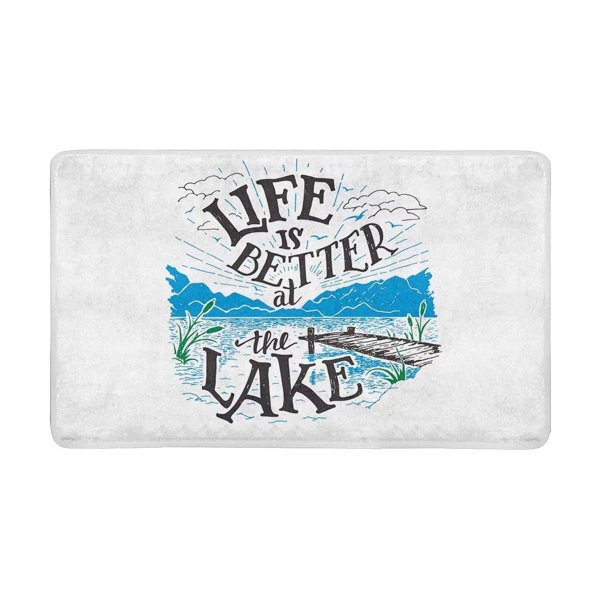 mkhert vintage lake house decor life is better at the lake on farmhouse colors for bath mats walmart id=90944