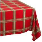 Lenox Holiday Gathering Plaid 60 Inch By 102 Inch Oblong Rectangle Tablecloth Walmart Com Walmart Com