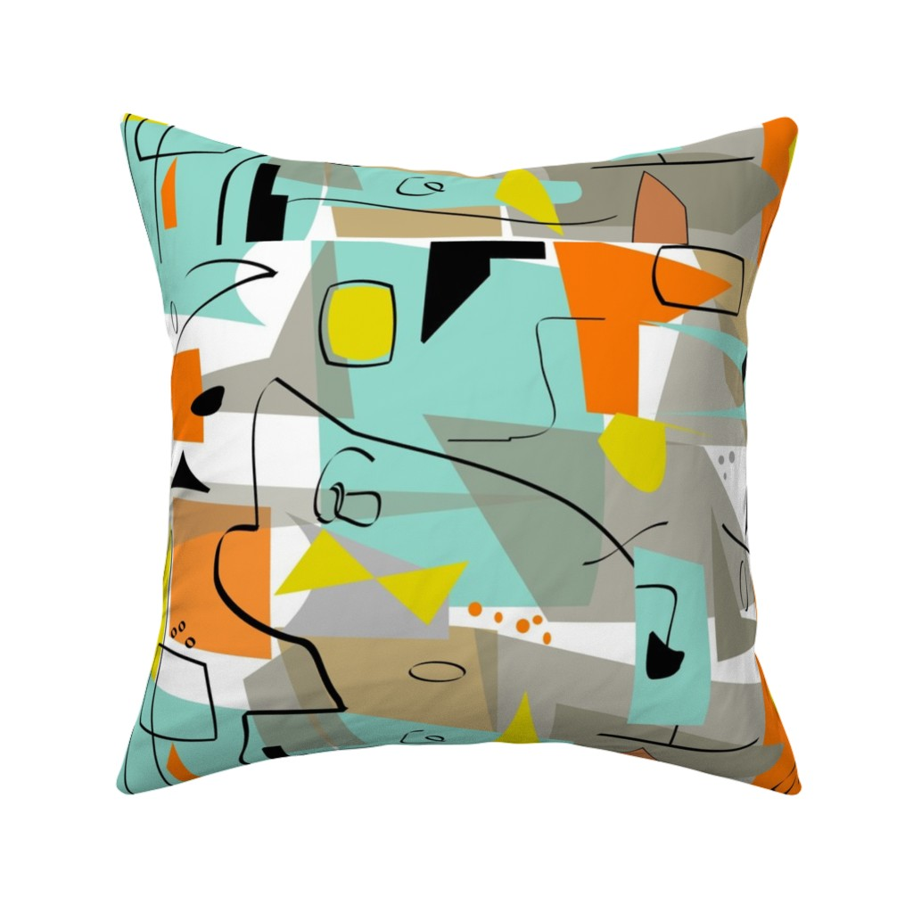 mid century modern vintage throw pillow cover w optional insert by roostery walmart com