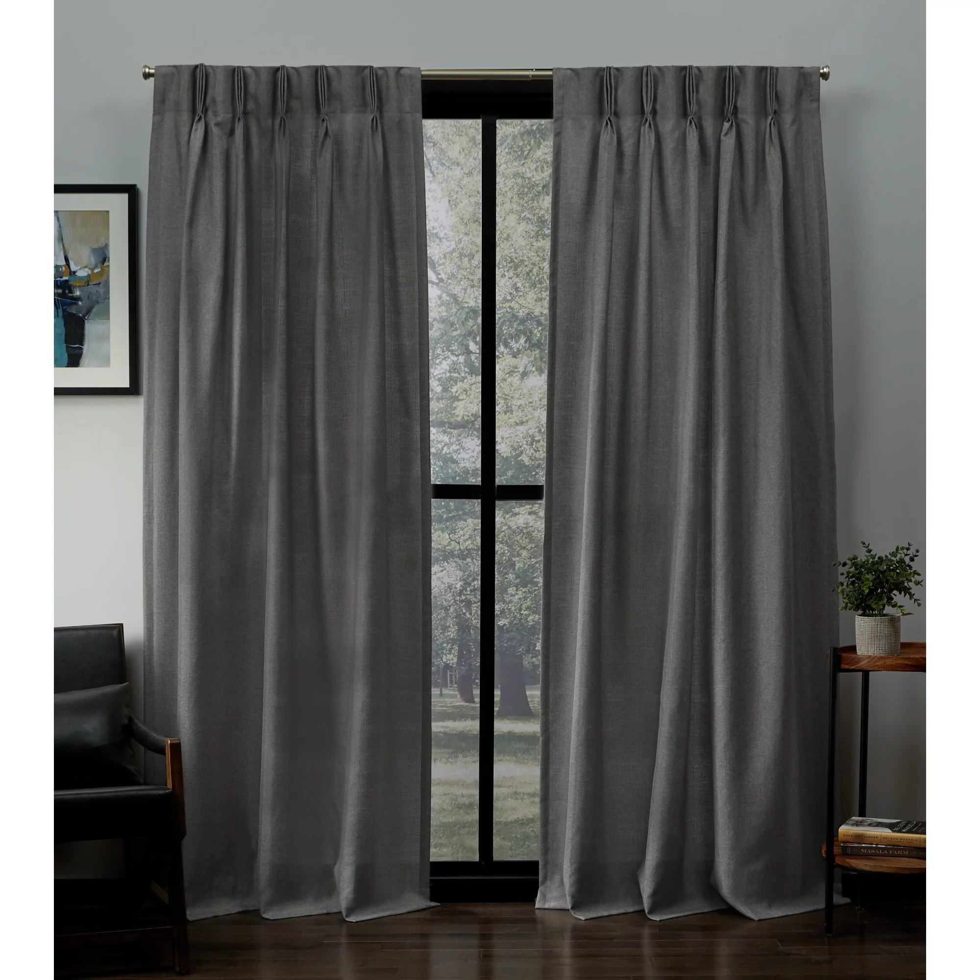 exclusive home curtains 2 pack loha linen pinch pleat curtain panels
