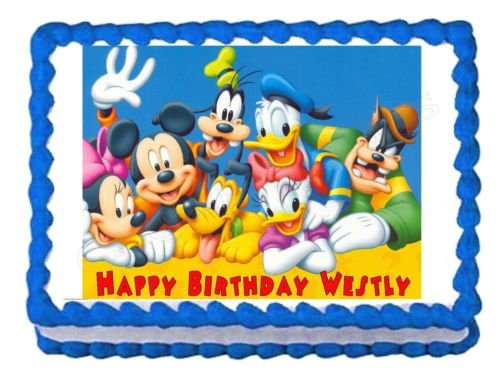 Mickey Mouse Clubhouse Edible Frosting Image Cake Topper