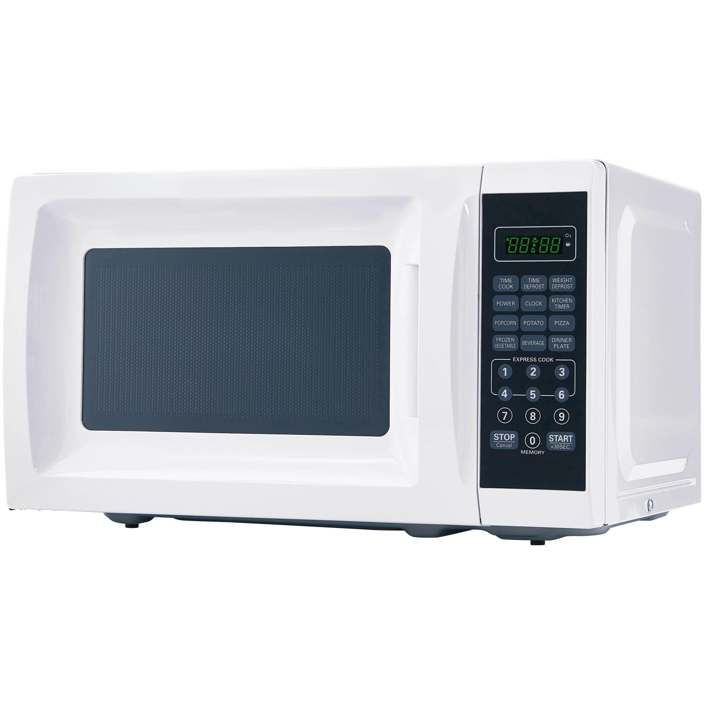 mainstays 0 7 cu ft 700w white microwave oven walmart com