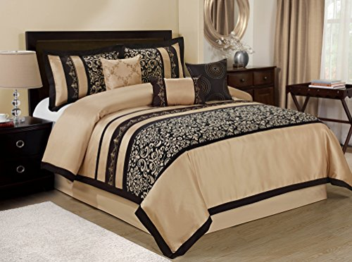 7 piece odesa print embroidery clearance bedding on walmart bedroom furniture clearance id=25076