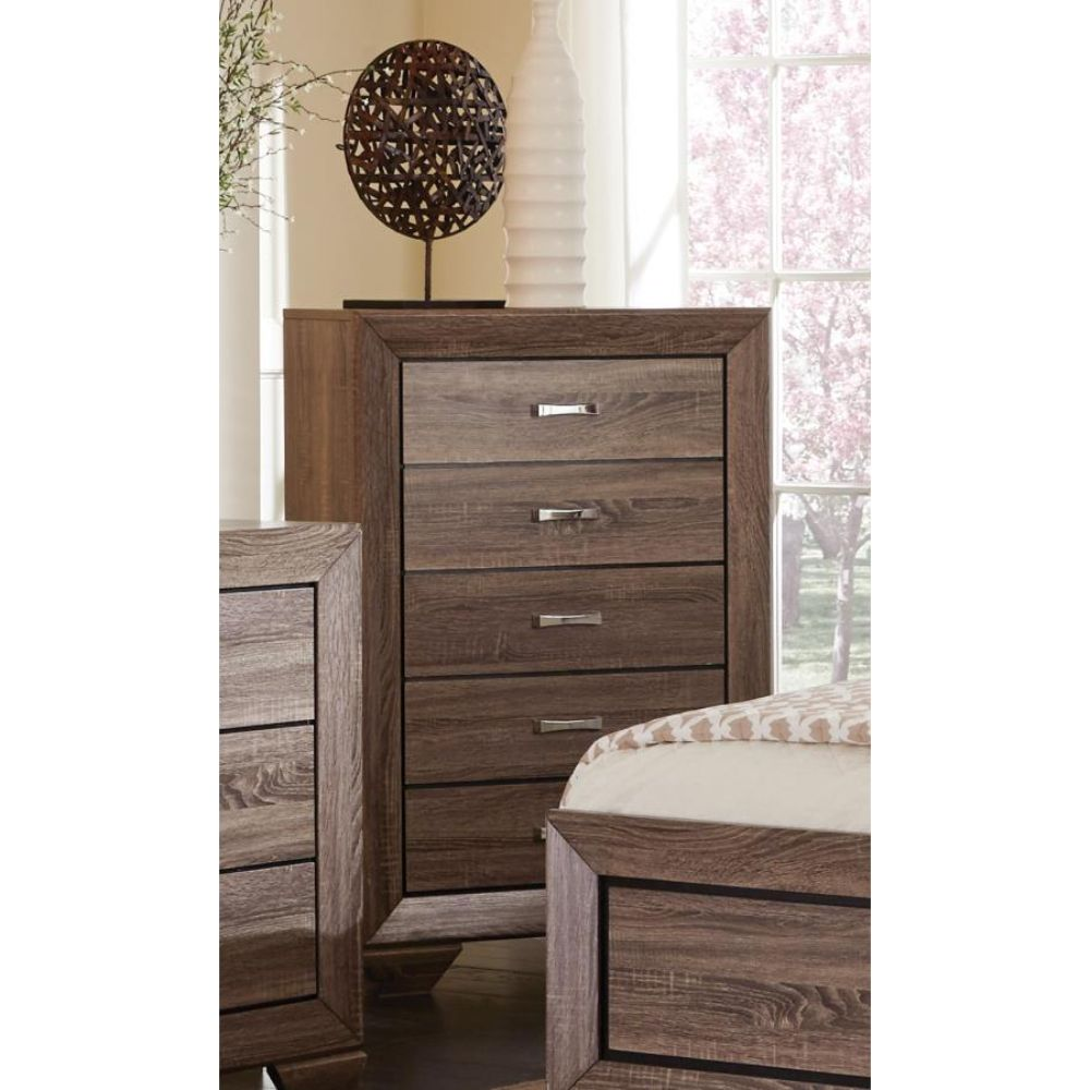 5 drawer chest washed taupe