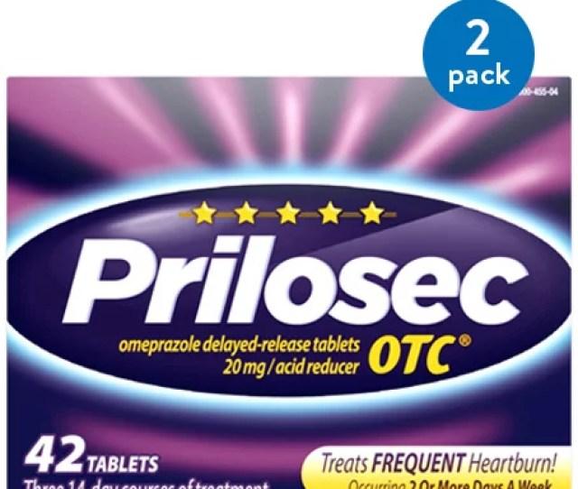 Pack Prilosec Otc Frequent Heartburn Medicine And Acid Reflux Reducer Tablets  Count Omeprazole Proton Pump Inhibitor Ppi Walmart Com