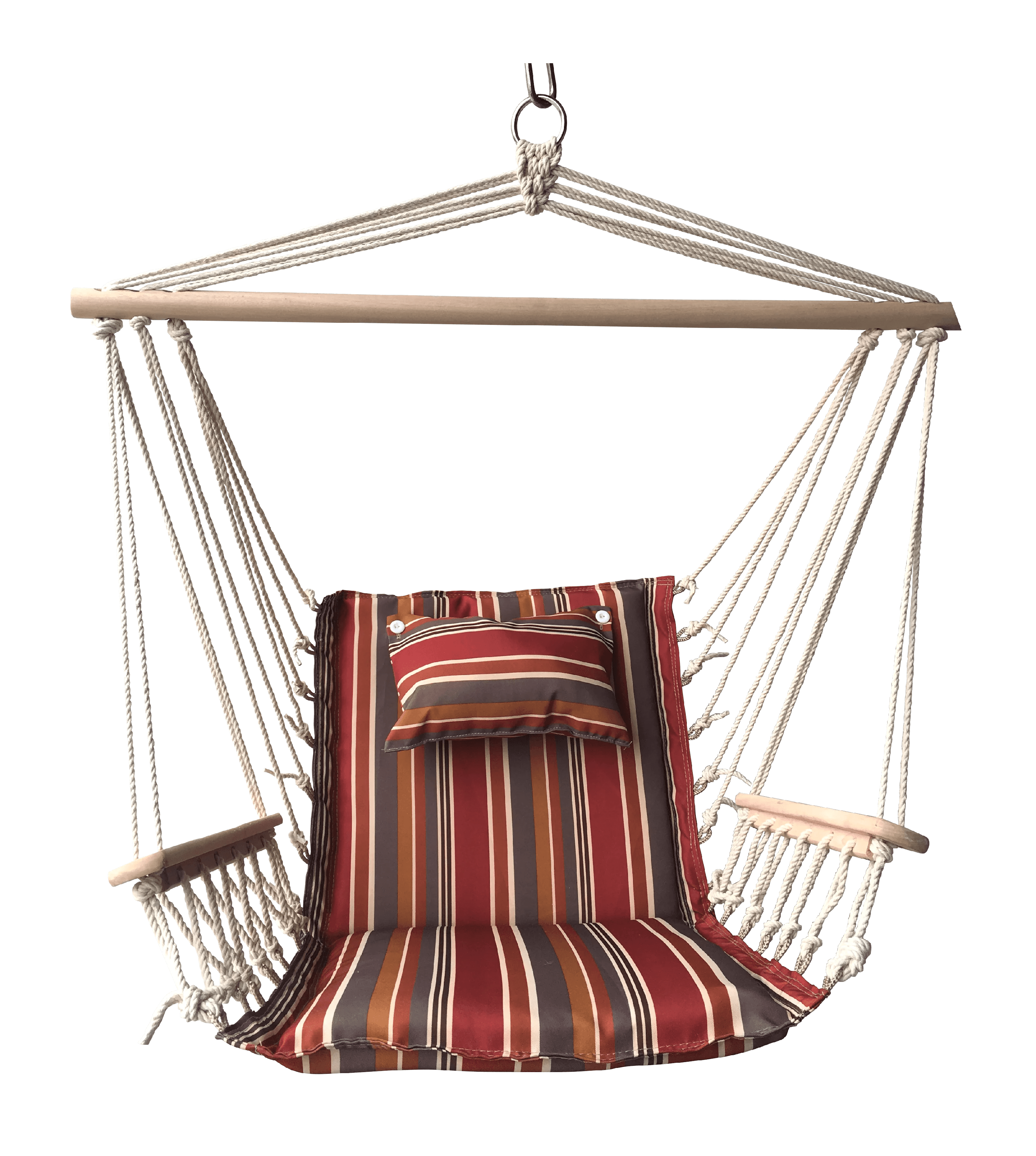 Spice Striped Hanging Hammock Swing Chair With Pillow