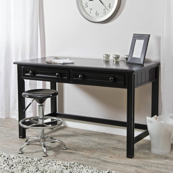 Belham Living Casey Writing Desk   Black   Walmart com