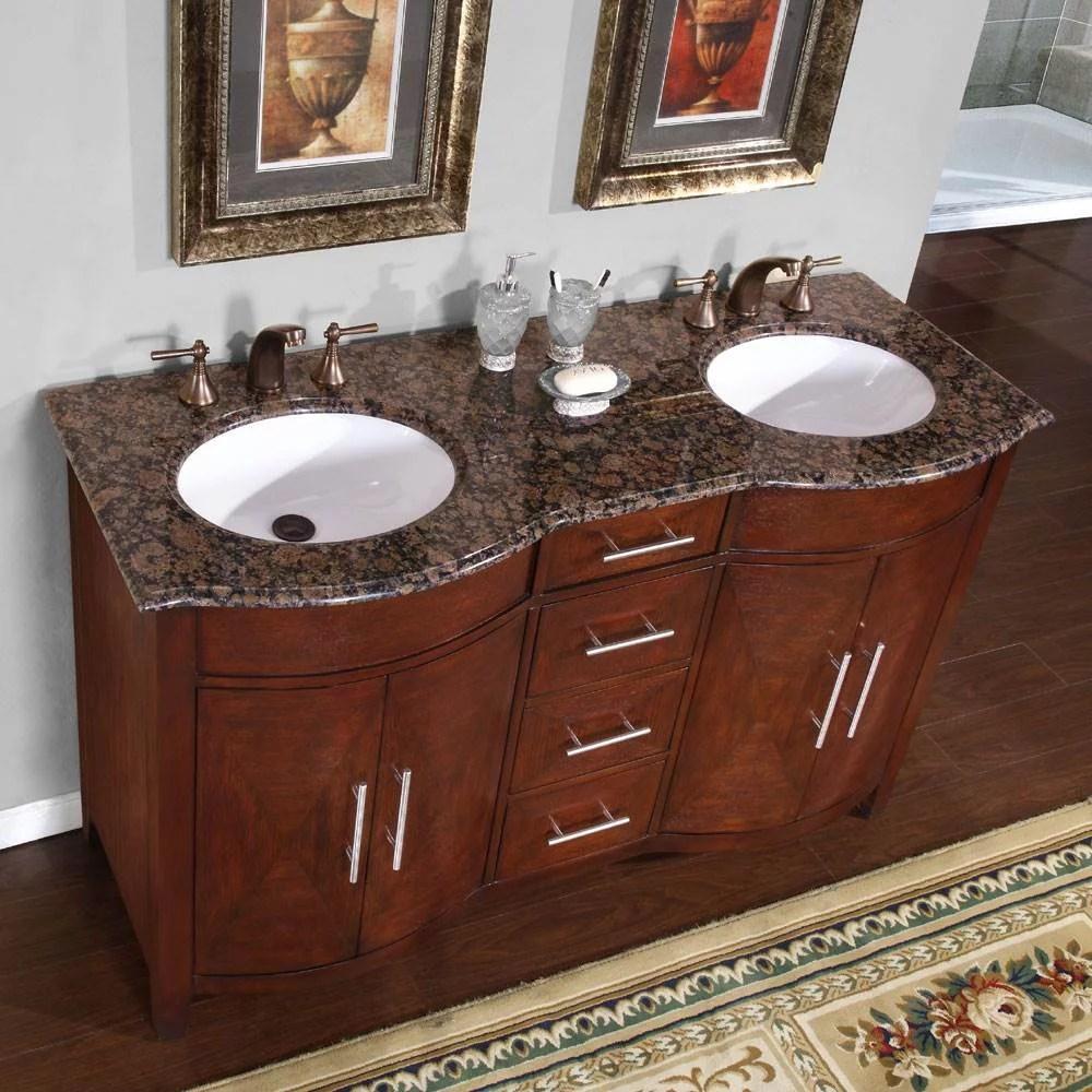 silkroad exclusive cambridge 58'' double bathroom vanity set