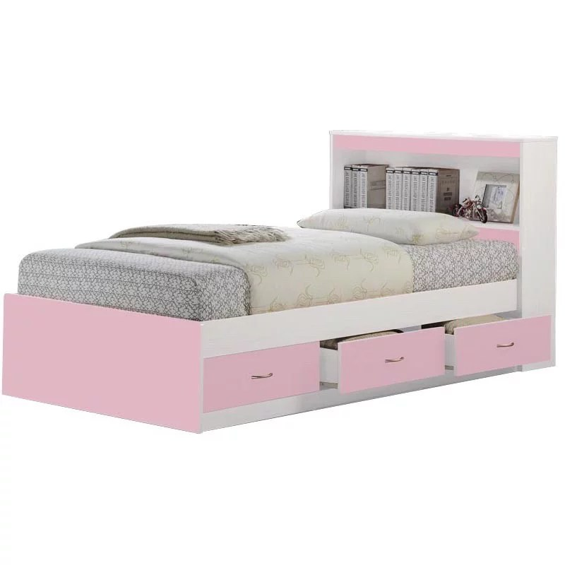 hodedah 3 drawer captain storage bed multiple colors with headboard
