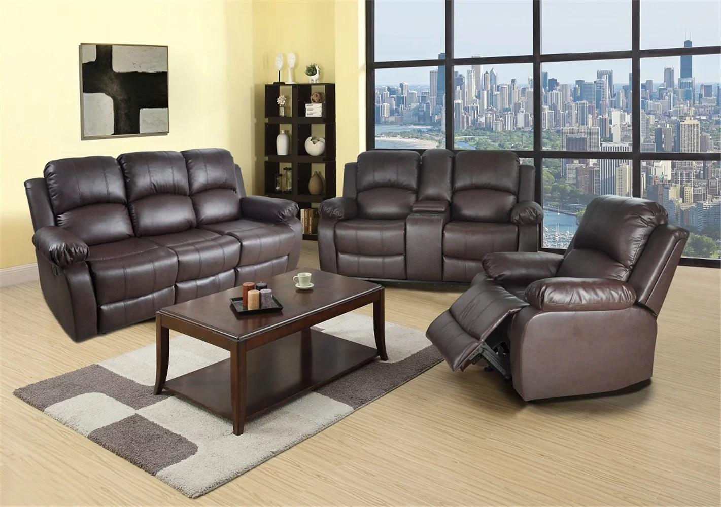 reclining sofa loveseat chair set living room set