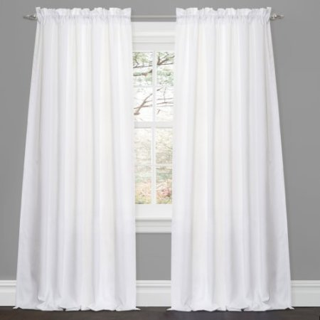 Lush Decor Prima Ivory Taupe Window Curtains Pair 54