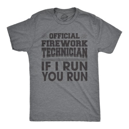 Mens Official Firework Technician Tshirt Funny Fourth Of July Tee For Guys