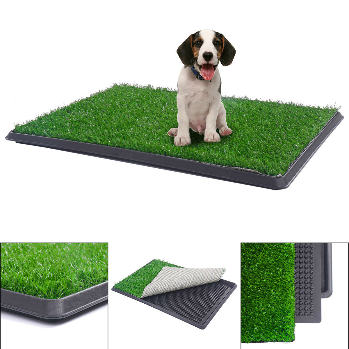 topcobe artificial grass dog potty grass puppy potty trainer 30 x20 fake grass turf for dogs potty training area patio lawn decoration