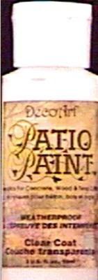 decoart patio paint 2 oz clear coat