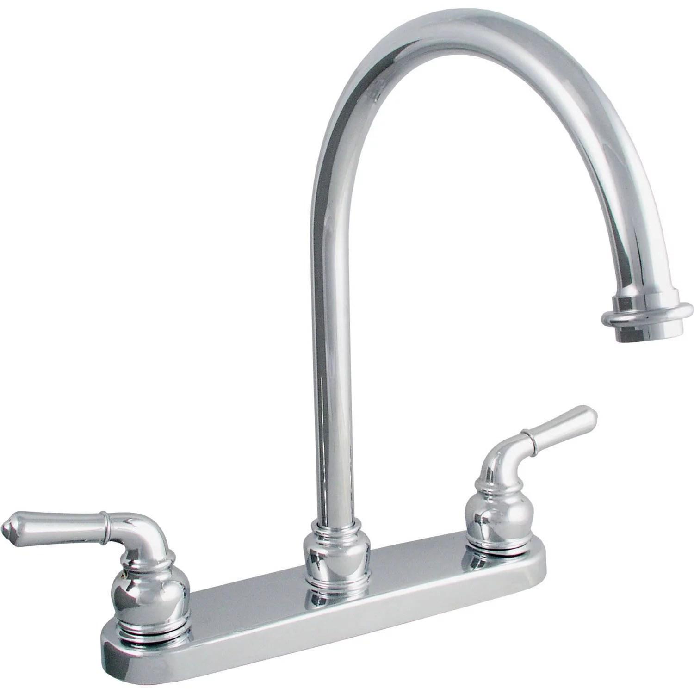 ldr 952 36415cp double handle chrome kitchen faucet walmart com